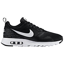 Buy Nike Air Max Tavas Men's Trainers, Black/White Online at johnlewis.com