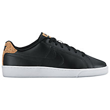 Buy Nike Court Royale Premium Men's Trainers, Black/White Online at johnlewis.com