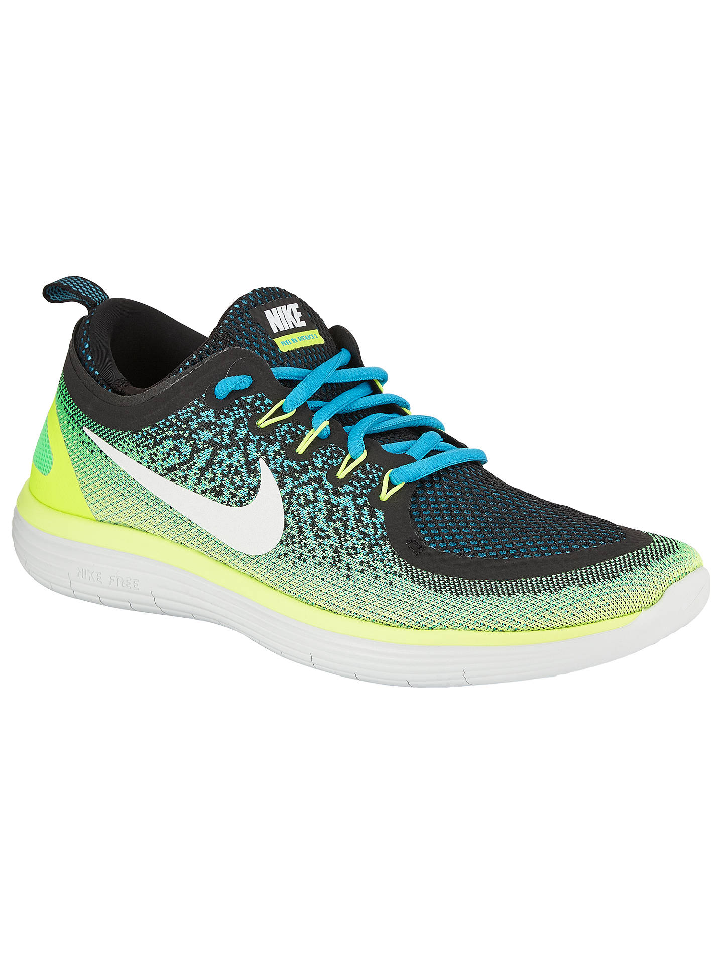 bffed0e509034 Nike Free RN Distance 2 Men's Running Shoes, Blue at John Lewis ...