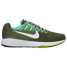 Buy Nike Air Zoom Structure 20 Men's Running Shoes, Green Online at johnlewis.com