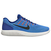 Buy Nike LunarGlide 8 Men's Running Shoes, Blue/Black Online at johnlewis.com