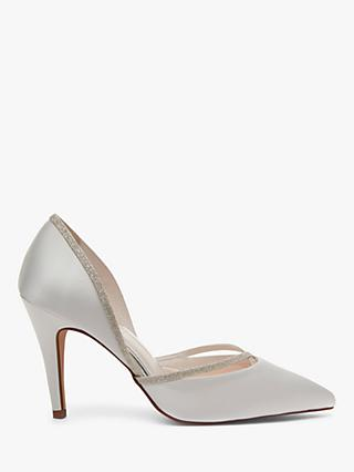 Rainbow Club Georgia Two Part Court Shoes, Ivory