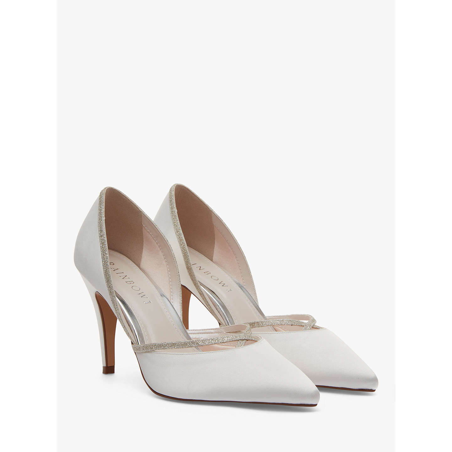 ... BuyRainbow Club Georgia Two Part Court Shoes, Ivory, 3 Online at  johnlewis.com ...