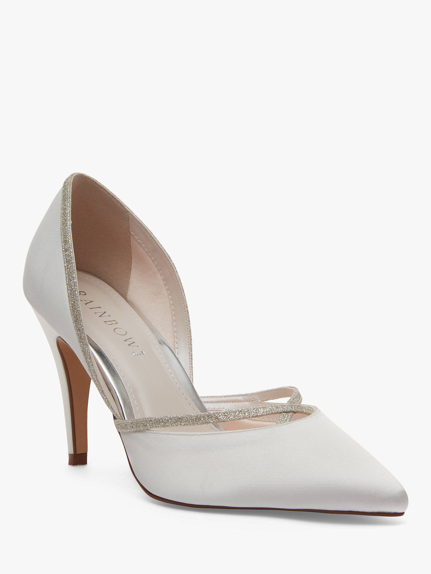 BuyRainbow Club Georgia Two Part Court Shoes, Ivory, 3 Online at johnlewis.com