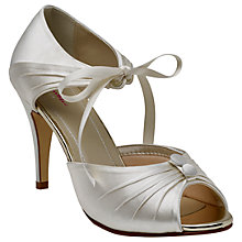 Buy Rainbow Club Nancy Tie Up Peep Toe Sandals, Ivory Online at johnlewis.com