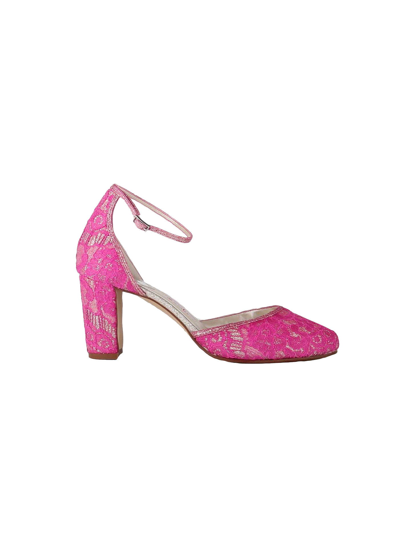 BuyRainbow Club Lavinia Block Heeled Court Shoes, Ivory, 3 Online at johnlewis.com