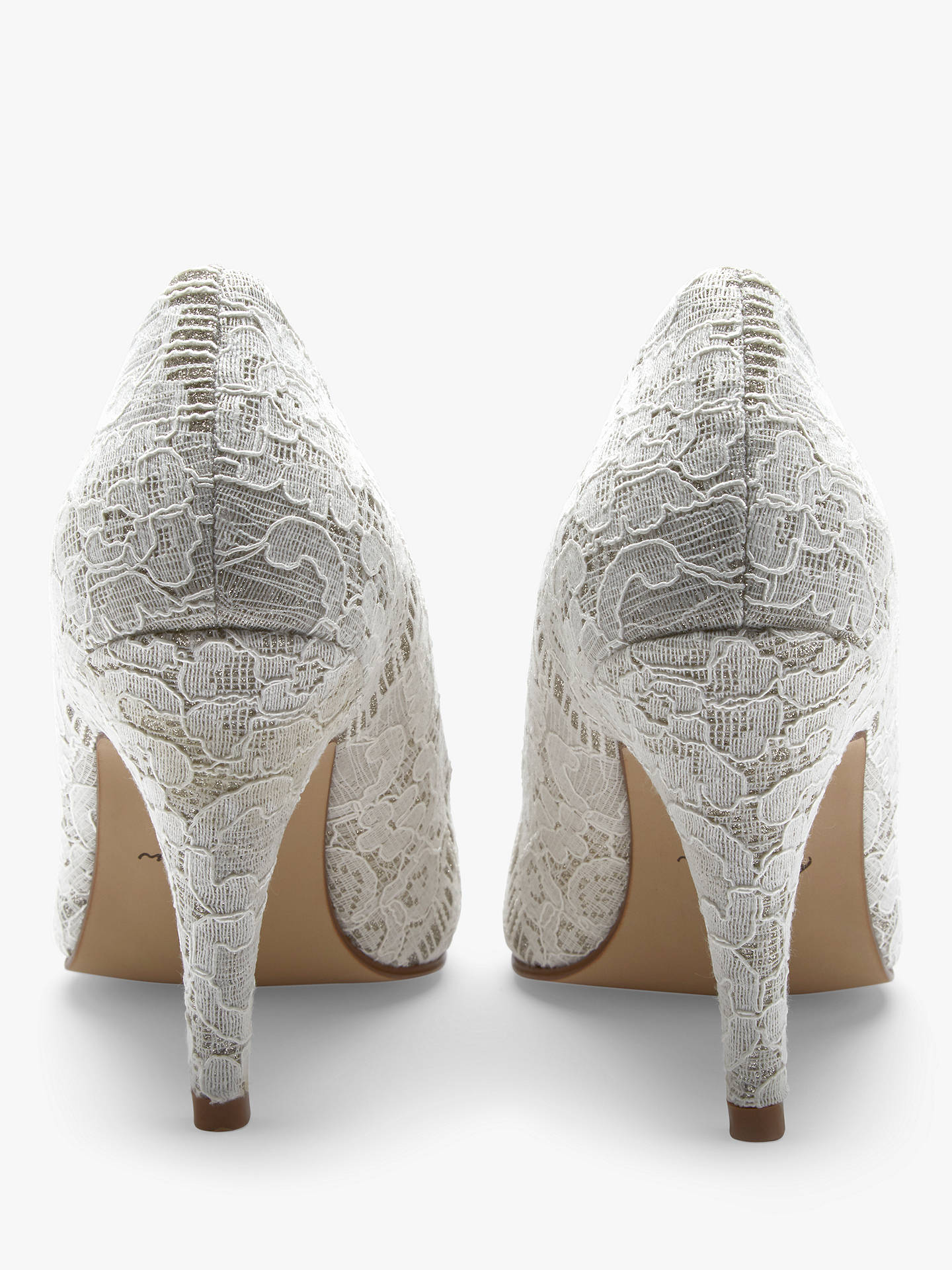 BuyRainbow Club Giverney Stiletto Heeled Court Shoes, Ivory, 3 Online at johnlewis.com