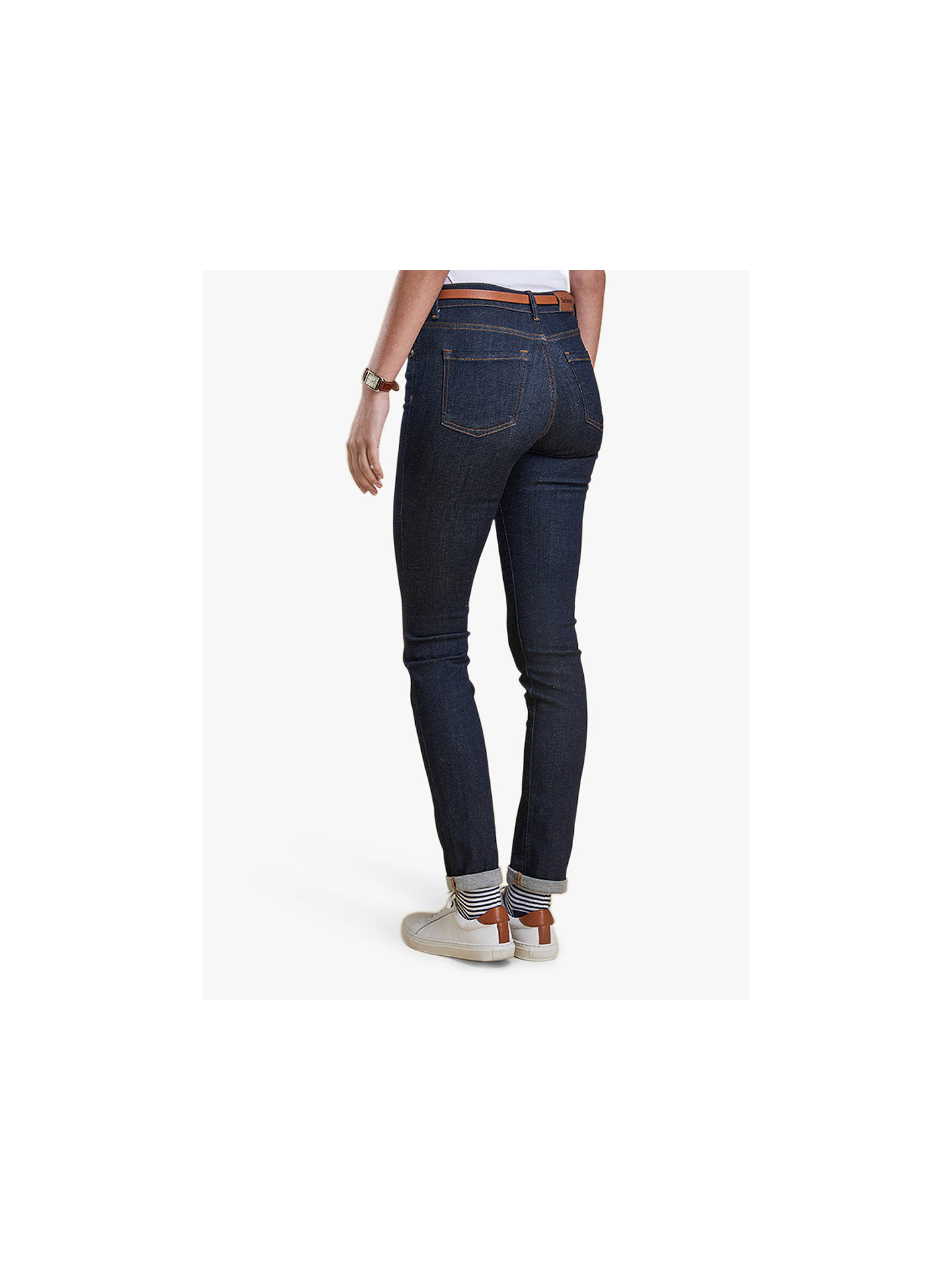 BuyBarbour Essential Slim Jeans, Rinse, 10 Online at johnlewis.com