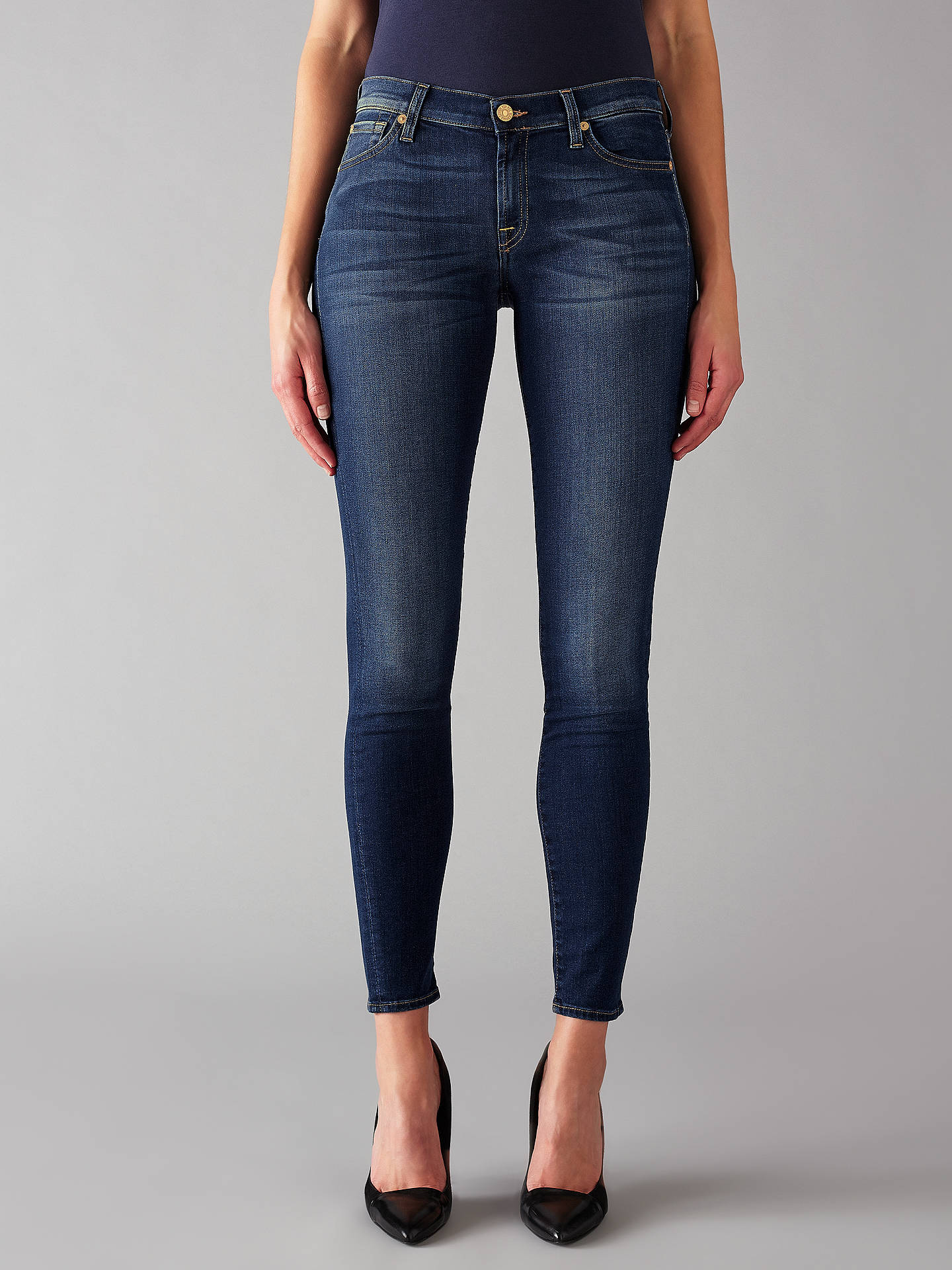 Buy7 For All Mankind The Skinny B(air) Jeans, Duchess, 26 Online at johnlewis.com