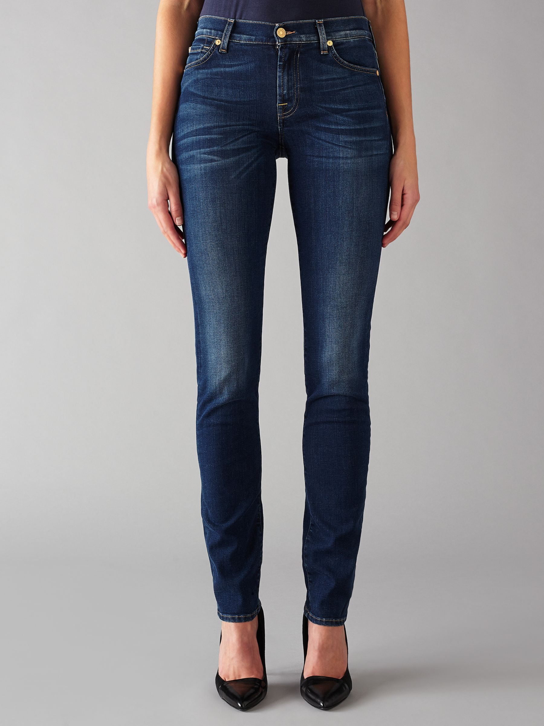 7 For All Mankind 7 For All Mankind Roxanne Mid Rise B(air) Slim Jeans, Duchess