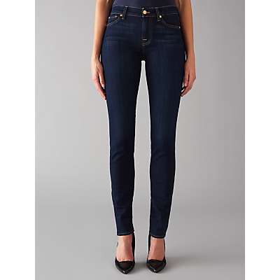 7 For All Mankind Roxanne Mid Rise B(air) Slim Jeans, Rinsed Indigo