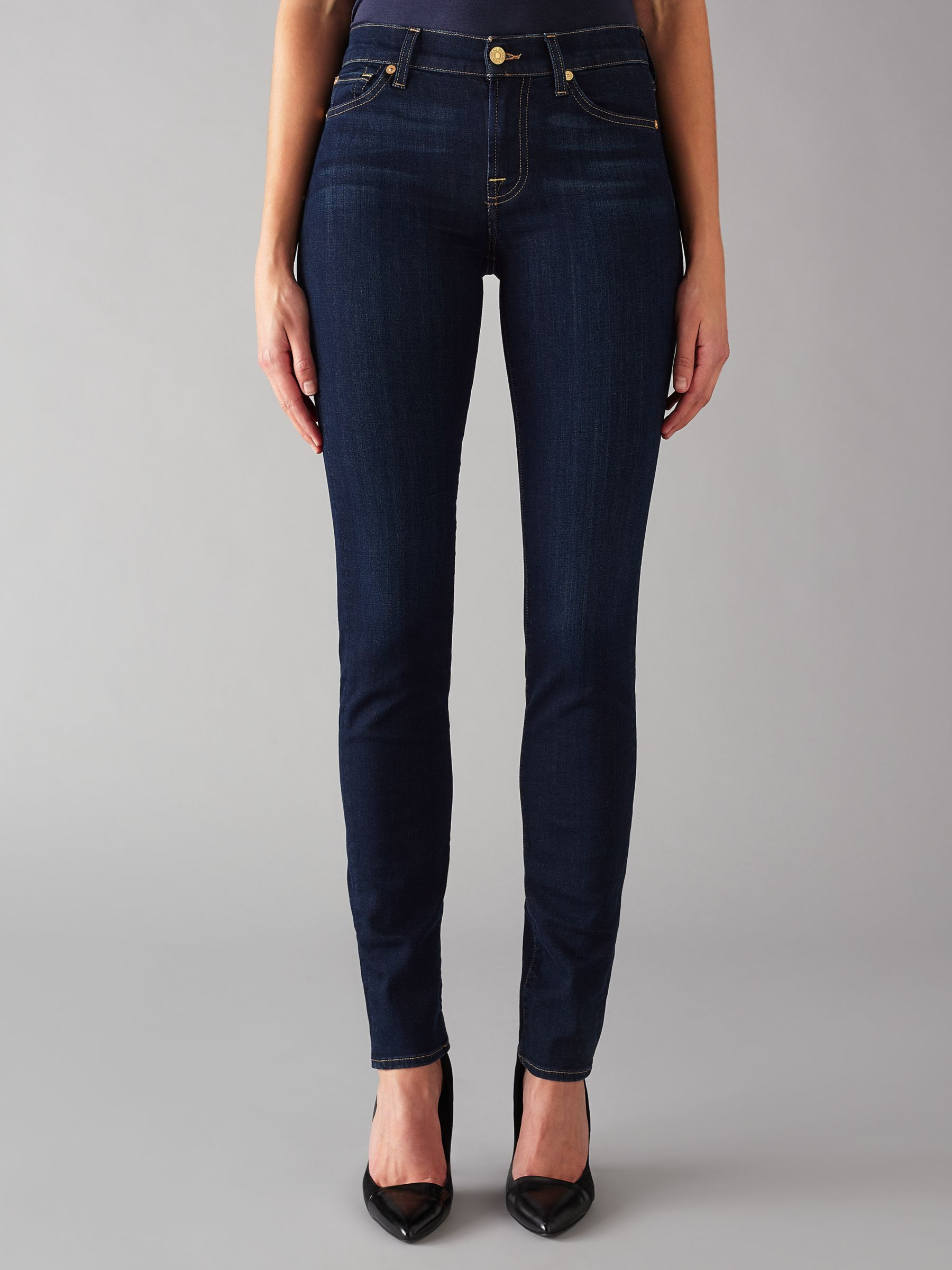 7 For All Mankind 7 For All Mankind Roxanne Mid Rise B(air) Slim Jeans, Rinsed Indigo