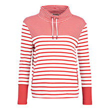 Buy Barbour Rief Stripe Sweatshirt, Cloud/Red Online at johnlewis.com