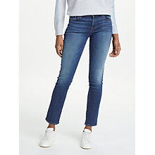 Buy J Brand Amelia Mid Rise Straight Jeans, Vanity Online at johnlewis.com