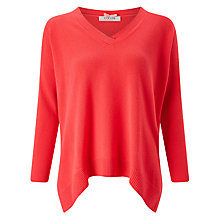 Buy Cocoa Cashmere Oversized V-Neck Jumper, Fluoro Pink Online at johnlewis.com