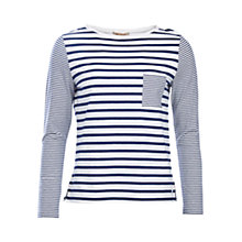 Buy Barbour Barnacle Stripe Jersey Top, Cloud/Navy Online at johnlewis.com