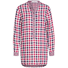 Buy Oui Check Shirt, Dark Blue/Red Online at johnlewis.com