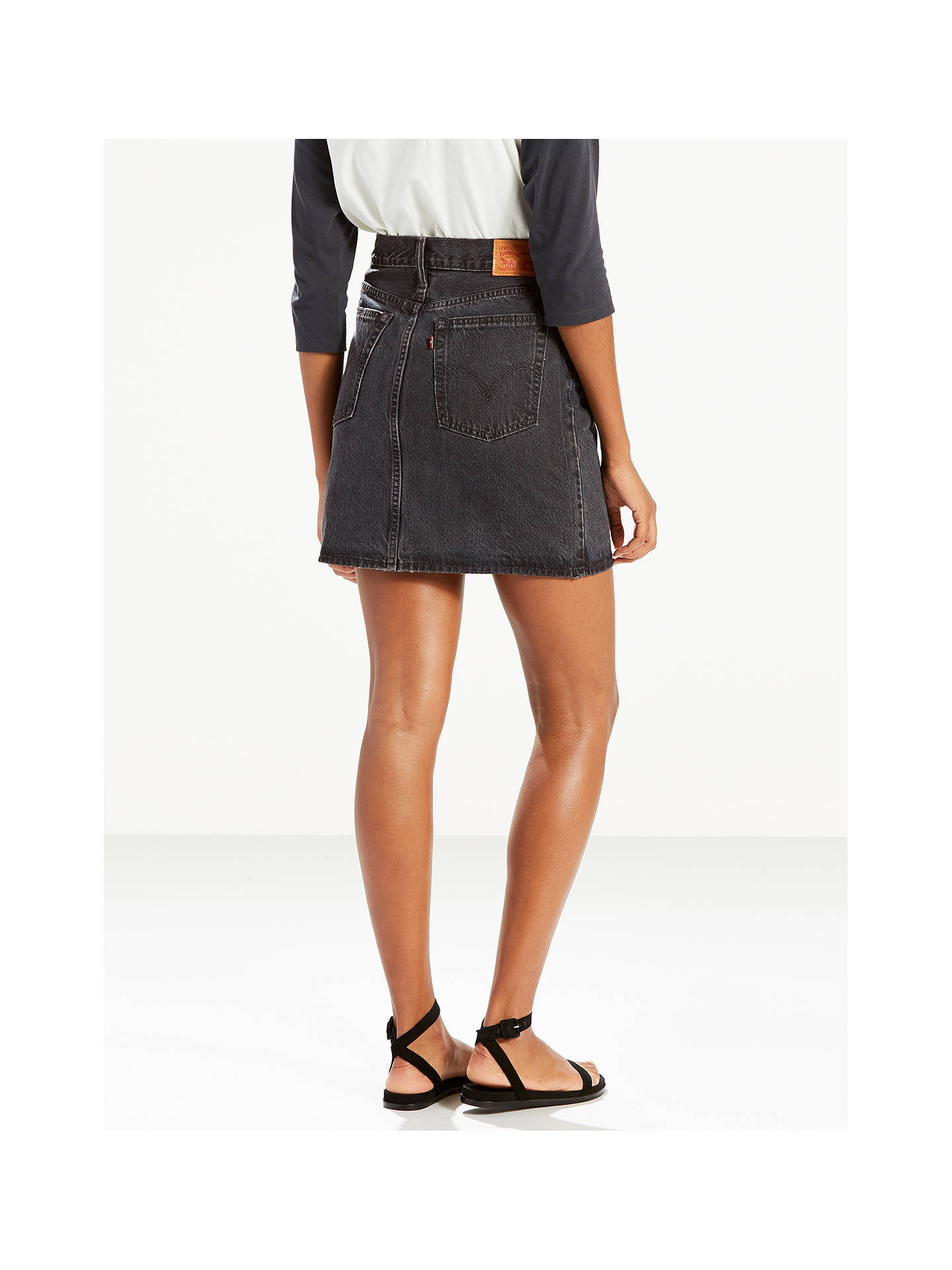 Buy Levi's The Everyday Denim Skirt, Mixed Tape, 30 Online at johnlewis.com