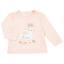 Buy John Lewis Baby Seagull Appliqué Top, Pink Online at johnlewis.com