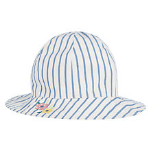 Buy John Lewis Baby Embroidered Stripe Sun Hat, Blue/White Online at johnlewis.com