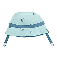 Buy John Lewis Baby Puffin Hat, Blue Online at johnlewis.com