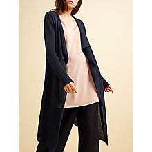 Buy Modern Rarity Long Linen Cardigan, Navy Online at johnlewis.com
