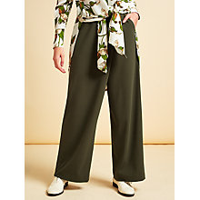 Buy Modern Rarity Cross Front Trousers, Dark Olive Online at johnlewis.com
