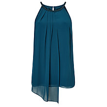 Buy Jacques Vert Neck Trim Top, Dark Green Online at johnlewis.com
