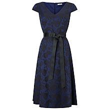Buy Jacques Vert Jacquard and Lace Dress, Dark Blue Online at johnlewis.com