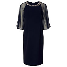 Buy Jacques Vert Chiffon Cape Dress, Navy Online at johnlewis.com