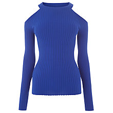Buy Warehouse Ribbed Cold Shoulder Jumper Online at johnlewis.com
