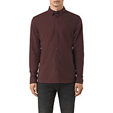 Buy AllSaints Hungtingdon Slim Fit Shirt, Damson Red Online at johnlewis.com