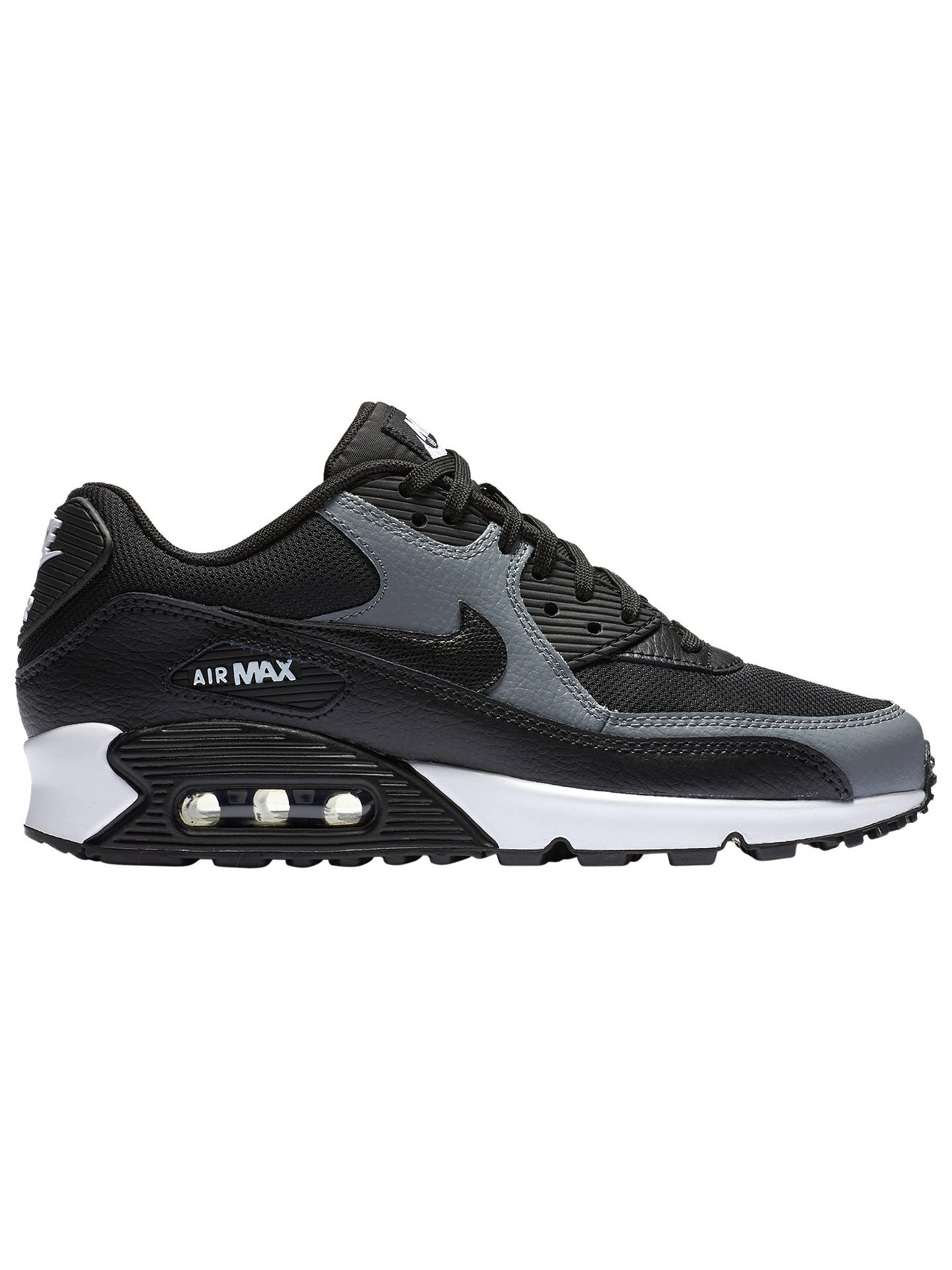 low priced 0f08d 877bb Nike Air Max 90 Women's Trainers, Black/White at John Lewis ...