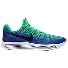 Buy Nike LunarEpic Low Flyknit 2 Men's Running Shoes, Green Online at johnlewis.com