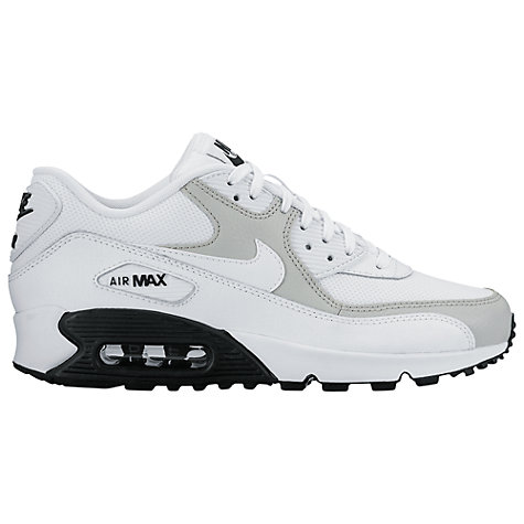 outlet store 91566 cc21b ... CHRISTMAS PACK-WHITEUNIVERSITY RED- Buy Nike Air Max 90 Womens  Trainers, WhiteWolf Grey Online at johnlewis.