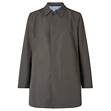 Buy Bugatti 84cm Slim Shirt Collar Mac, Khaki Online at johnlewis.com