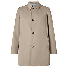 Buy Bugatti Basic Flexcity Shirt Collar Water Repellent Mac, Dark Stone Online at johnlewis.com