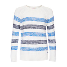 Buy Barbour Dock Stripe Jumper, White/Blue Online at johnlewis.com