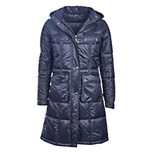 Buy Barbour International Fairing Longline Baffle Quilted Parka, Black Online at johnlewis.com
