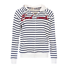 Buy Barbour Sandbar Stripe Hoodie, Cloud/Navy Online at johnlewis.com