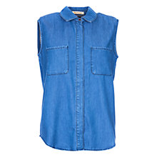 Buy Barbour Auger Sleeveless Shirt, Chambray Online at johnlewis.com