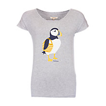 Buy Barbour Zoris Puffin Print T-Shirt, Light Grey Marl Online at johnlewis.com