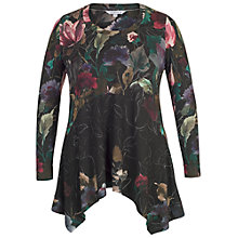 Buy Chesca Floral Border Print Jersey Tunic Top, Black/Multi Online at johnlewis.com