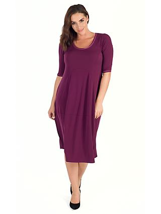 Chesca Seamed Jersey Dress, Plum