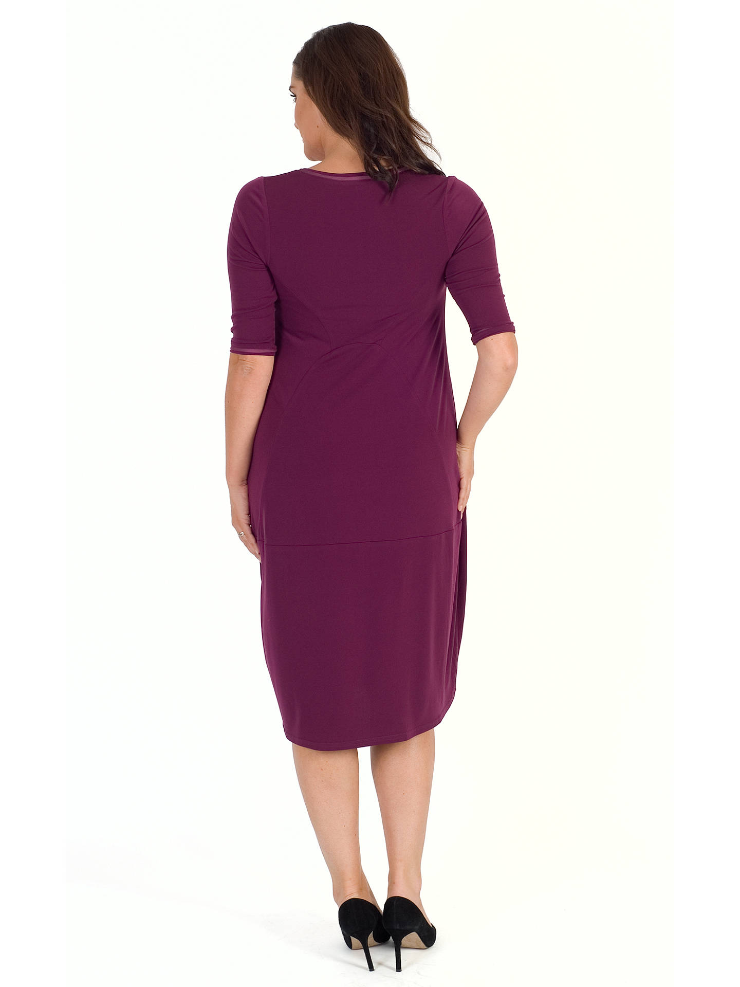 Buy Chesca Seamed Jersey Dress, Plum, 12-14 Online at johnlewis.com