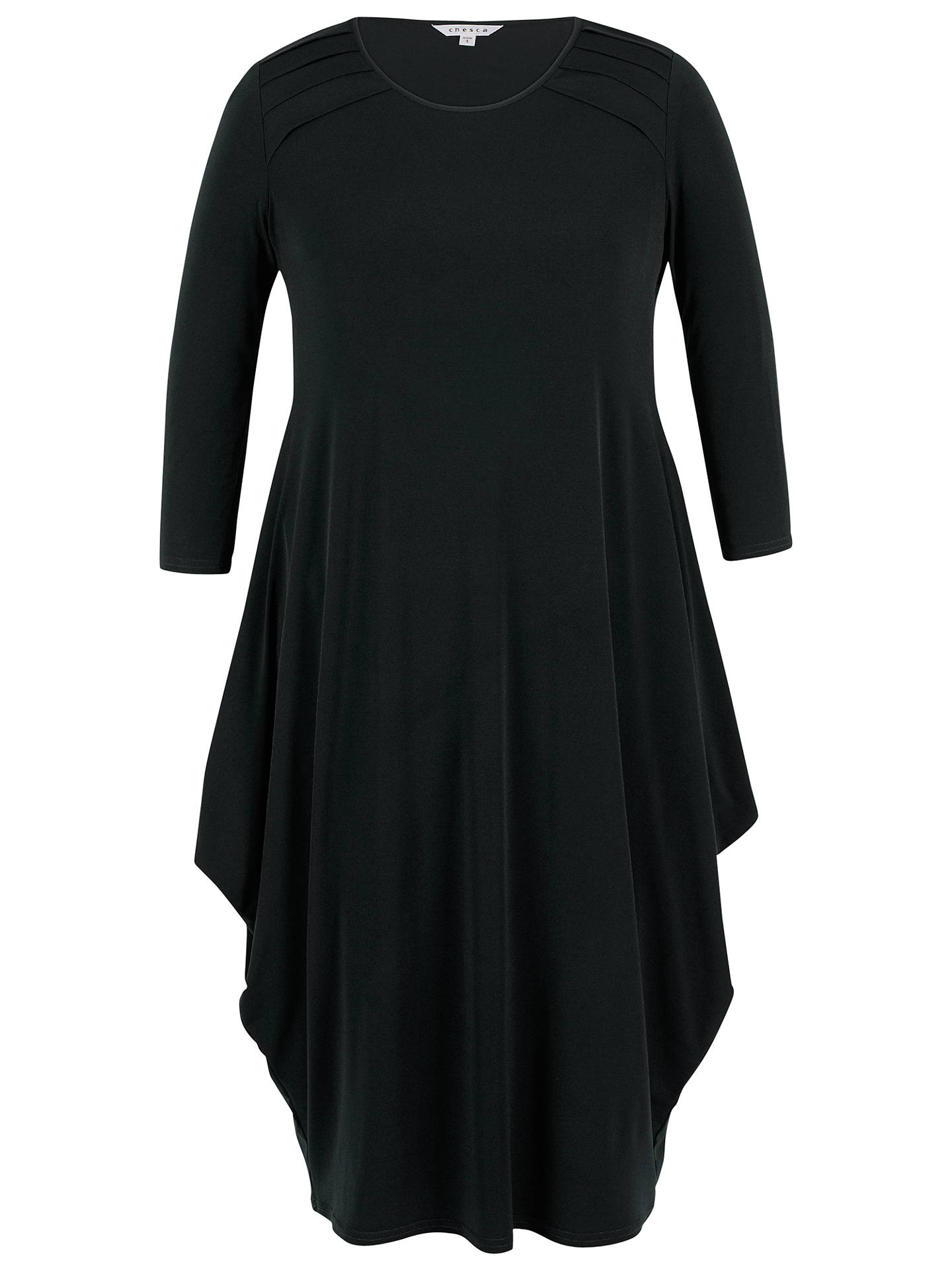 BuyChesca Tuck Detail Jersey Dress, Black, 12-14 Online at johnlewis.com