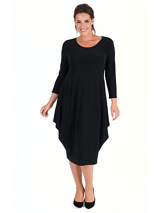 Buy Chesca Tuck Detail Jersey Dress, Black, 12-14 Online at johnlewis.com