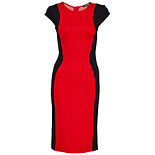 Buy French Connection Manhattan Colourblock Dress, Royal Scarlet/Black Online at johnlewis.com