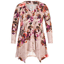 Buy Chesca Floral Border Print Jersey Cardigan, Pink Online at johnlewis.com