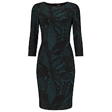 Buy Phase Eight Lexi Leaf Print Dress, Green/Black Online at johnlewis.com